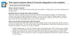 search console integration