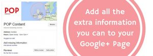 Google+ Page promote your website locally on Google