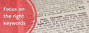 focus on keywords for better seo
