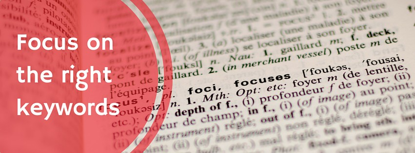 focus on keywords for better seo