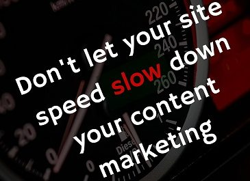 site speed slow down content marketing